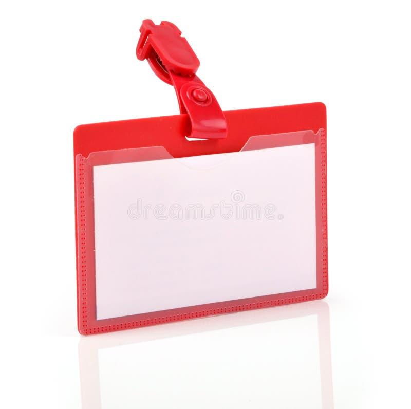 blankt ID arkivfoto