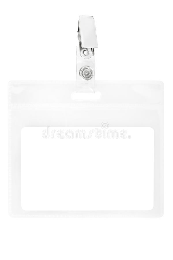 blankt ID-passerande för emblem royaltyfria foton