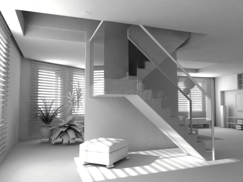 blankt inre modernt vektor illustrationer