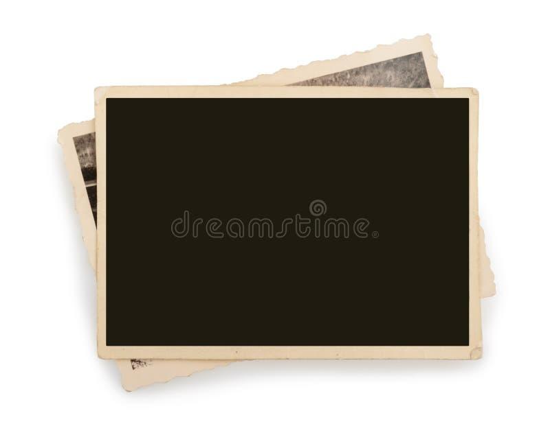 Blankt isolerat tappningfotopapper royaltyfria foton