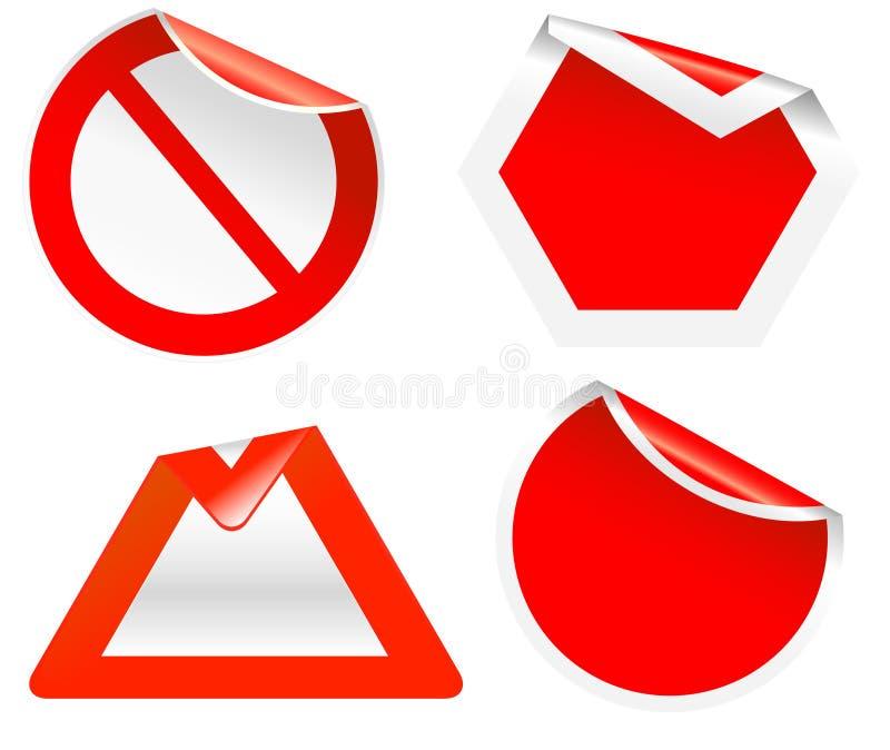 blankt krullningsvägmärke vektor illustrationer