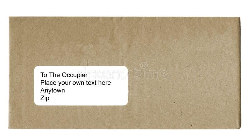 blankt kuvert arkivfoton