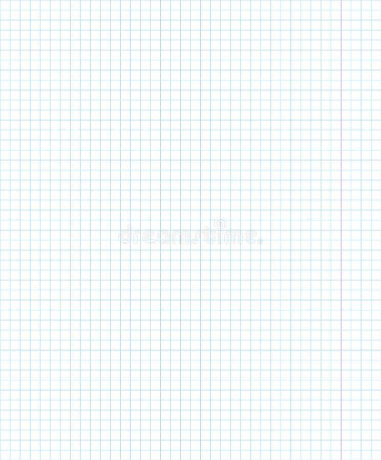 blankt kvadrerat anteckningsbokark Genomskinligt objekt för vektor vektor illustrationer