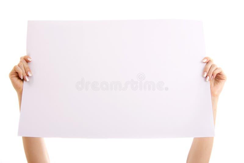 blankt papper fotografering för bildbyråer