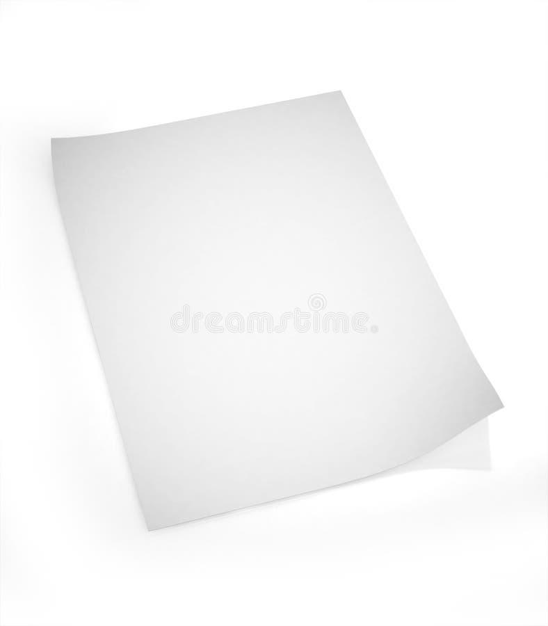 blankt papper 3d royaltyfri illustrationer