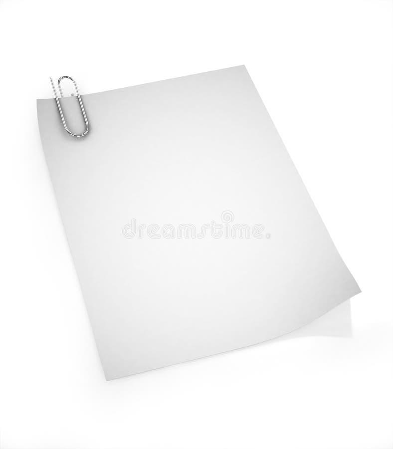 blankt papper för gem 3d vektor illustrationer