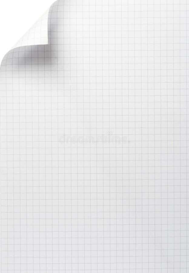 blankt papper för krullningsanteckningsbokkontor royaltyfri bild