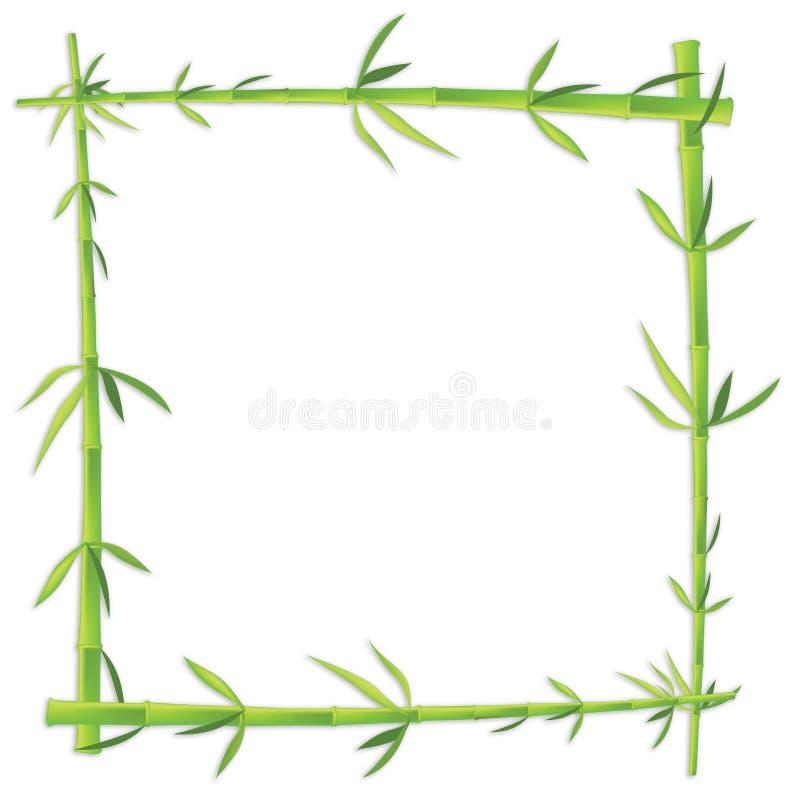 blankt ramfoto för bambu vektor illustrationer