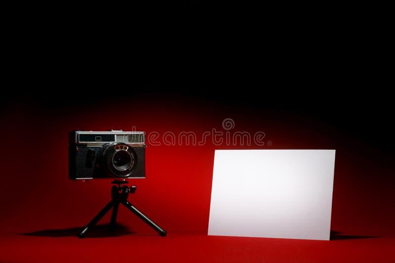 blankt retro kamerafoto arkivbild