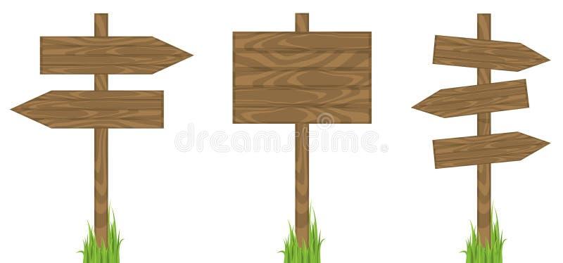 blankt stolpetecken vektor illustrationer