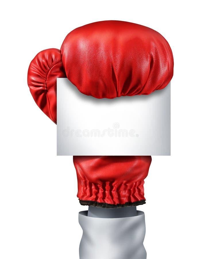 Blankt tecken för slagsmål stock illustrationer