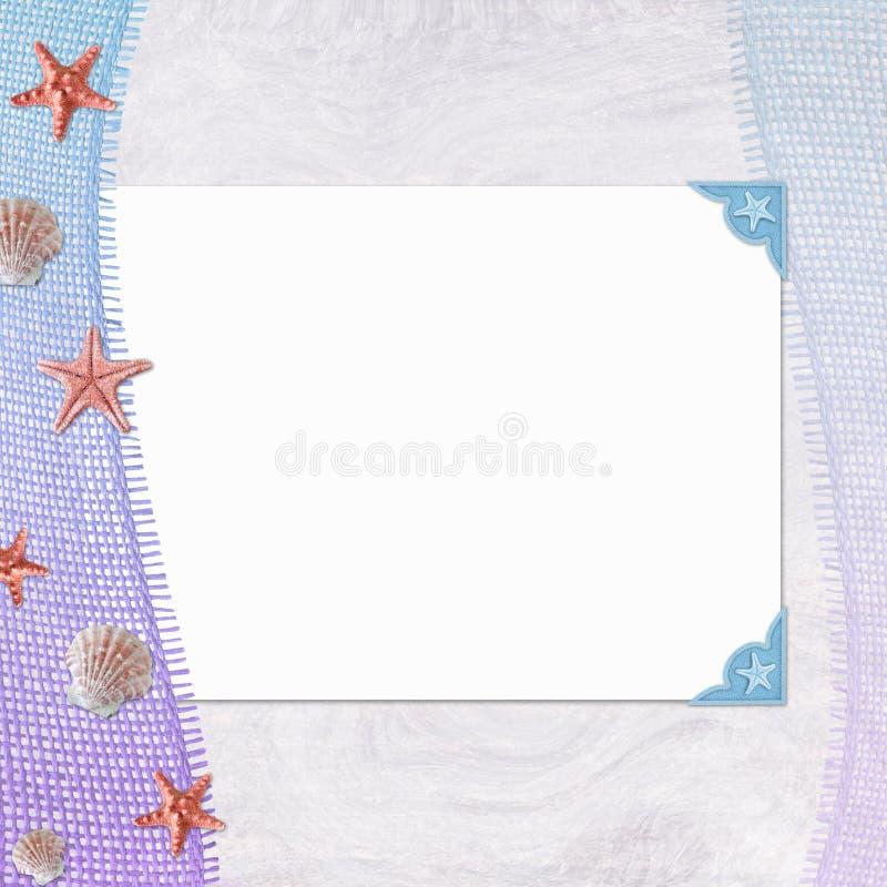 blankt texturerat anmärkningspapper för bakgrund royaltyfri illustrationer
