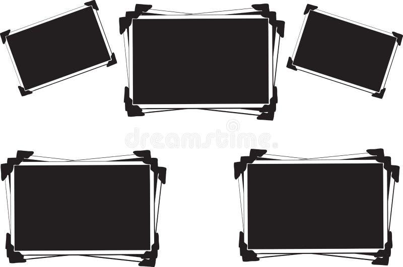 blankt tomt ramfoto royaltyfri illustrationer