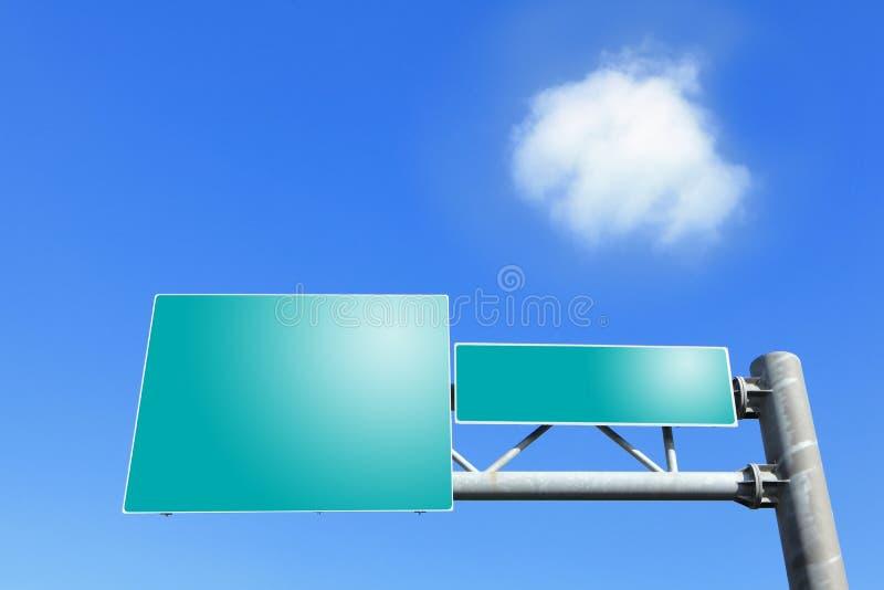 Blankt trafiktecken för väg två arkivfoton