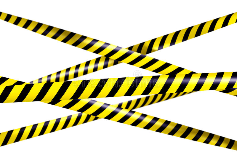 blankt varningsband royaltyfri illustrationer