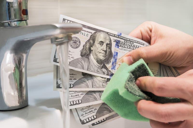 Blanqueo de dinero, concepto fotos de archivo