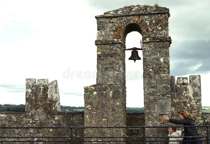 Pass the tower bell without stopping royalty free stock images