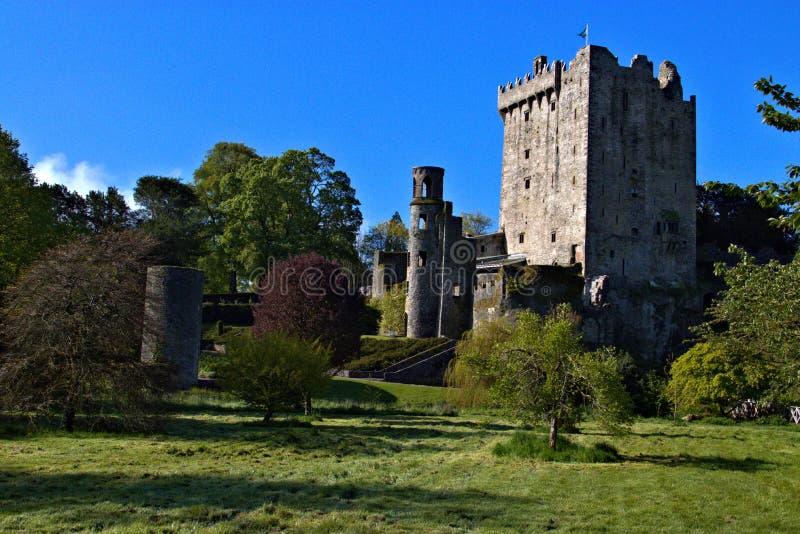 Blarney Castle, Keep and Gardens i Blarney, County Cork, Irland på floden Martin arkivbild