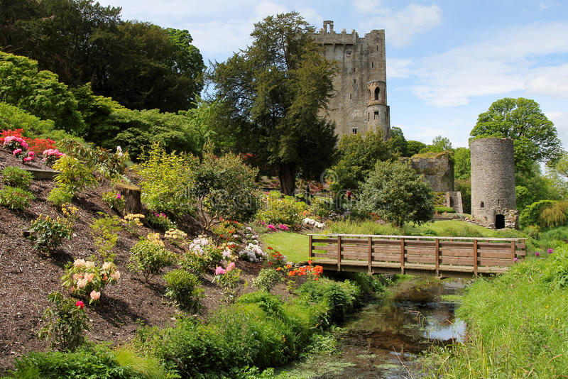 Blarney castle park and bridge royalty free stock images