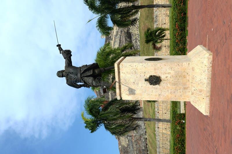 Blas de Leso Monumento在卡塔赫钠 免版税库存图片