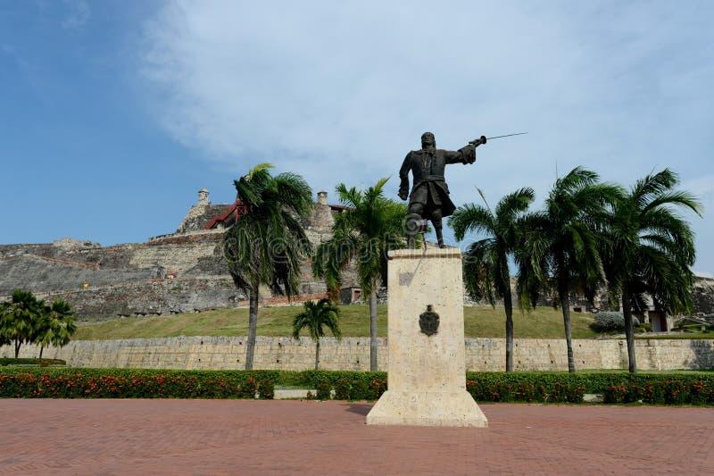 Blas de Leso Monumento in Cartagena royalty-vrije stock afbeeldingen