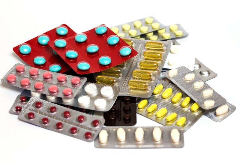 Blase mit Pillen stockbild