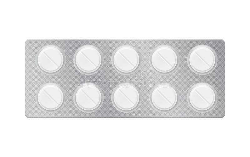 Blase mit Pillen, Tabletten vektor abbildung