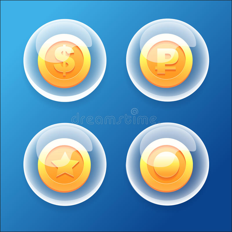 Blasen-Münzen lizenzfreie abbildung
