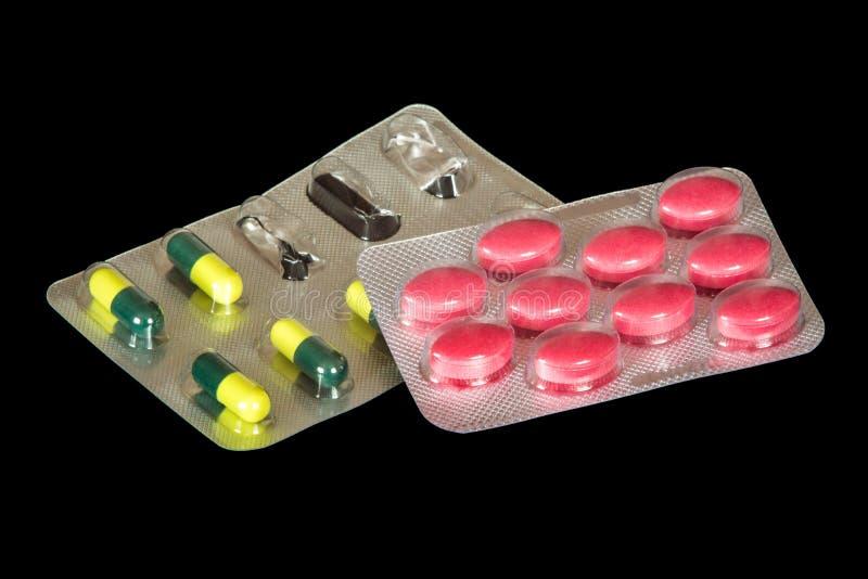 Blasen mit benutzten Tabletten, Behandlung und Verhinderung von colds_ stockbilder