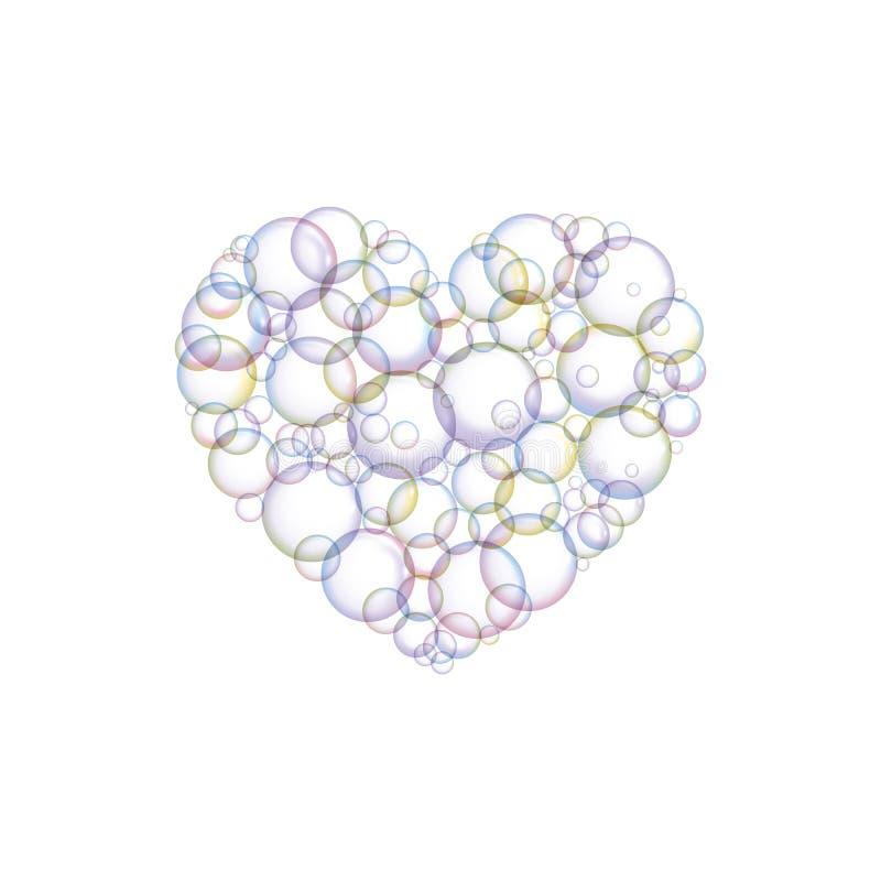 Blasen seifen in Form von Herzen ein lizenzfreie abbildung