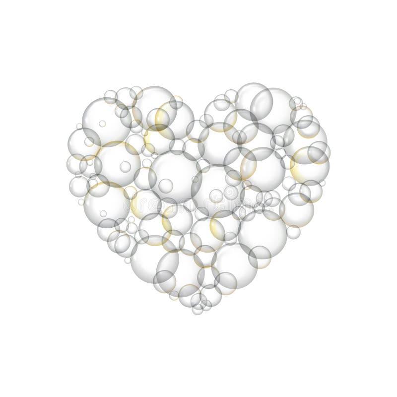 Blasen seifen in Form von Herzen ein stock abbildung