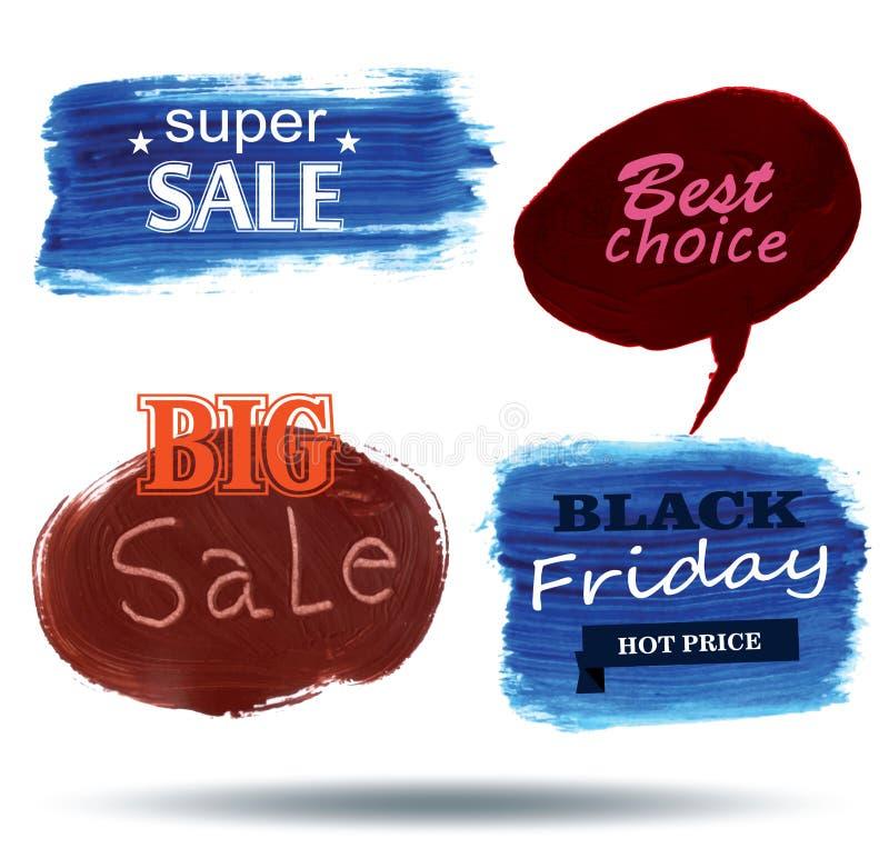 Blasensprache Beschaffenheits-Verkauf, stock abbildung