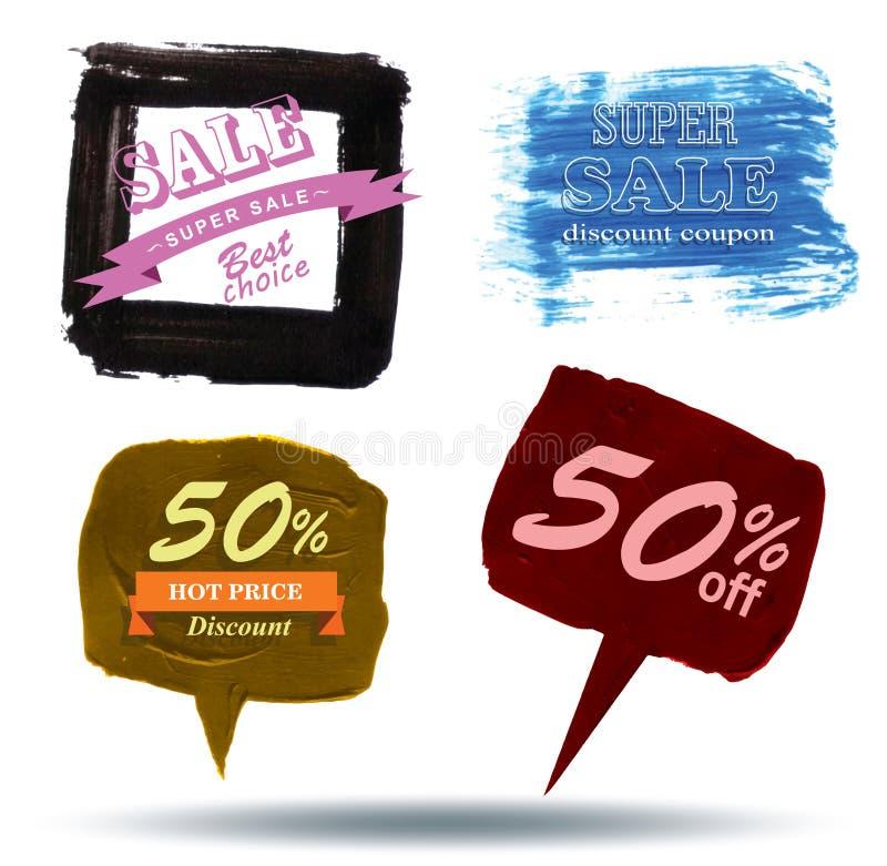 Blasensprache Beschaffenheits-Verkauf, lizenzfreie abbildung