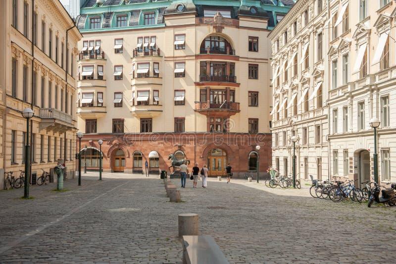 Blasieholmen广场,斯德哥尔摩 免版税库存照片