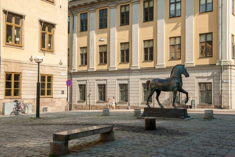 Blasieholmen广场,斯德哥尔摩 库存照片