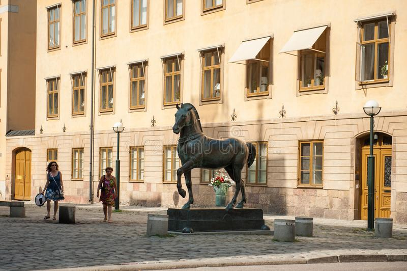 Blasieholmen-Quadrat, Stockholm lizenzfreie stockfotografie