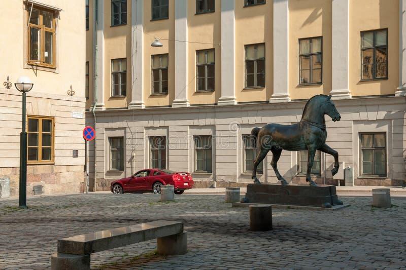 Blasieholmen-Quadrat, Stockholm stockbilder
