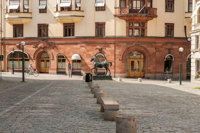 Blasieholmen-Quadrat, Stockholm lizenzfreies stockbild