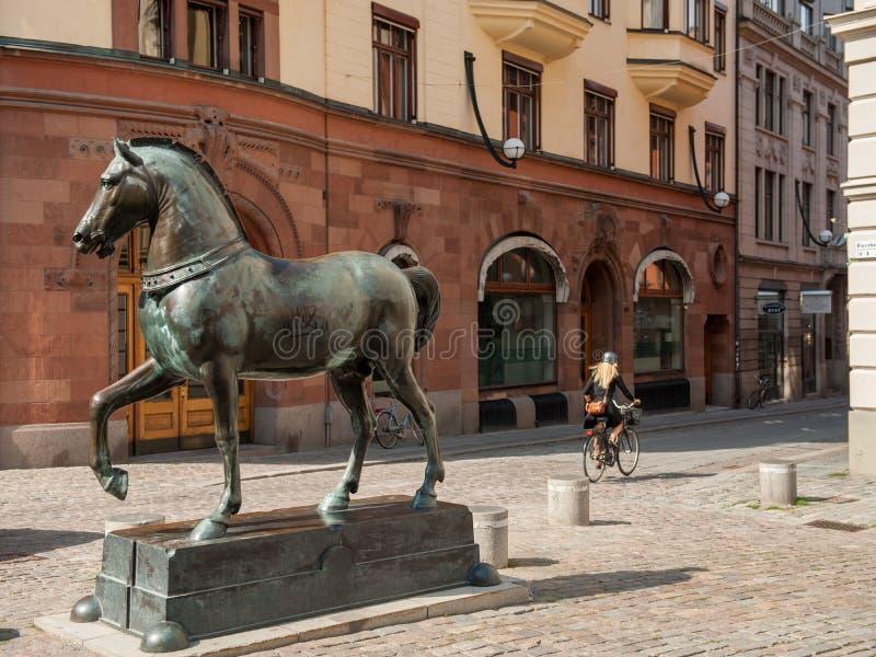 Blasieholmen-Quadrat, Stockholm lizenzfreie stockfotos