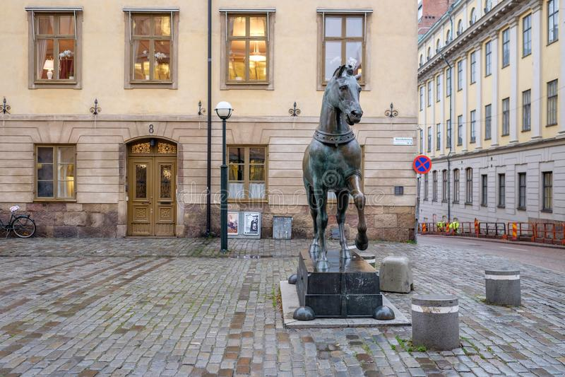 Blasieholmen square, Stockholm royalty free stock photography