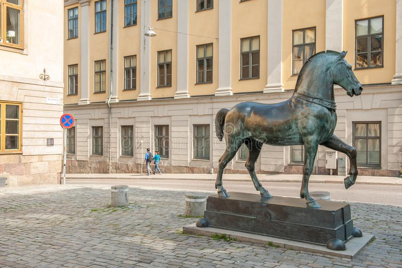 Blasieholmenvierkant, Stockholm stock foto's