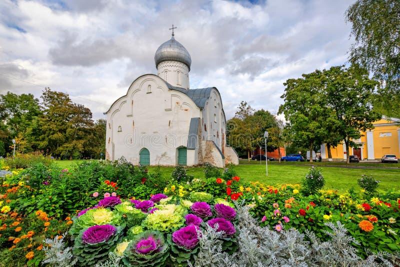 Blasius Church em Veliky Novgorod, Rússia imagem de stock