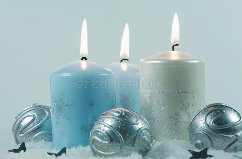 blasków Świąt świecy obrazy royalty free