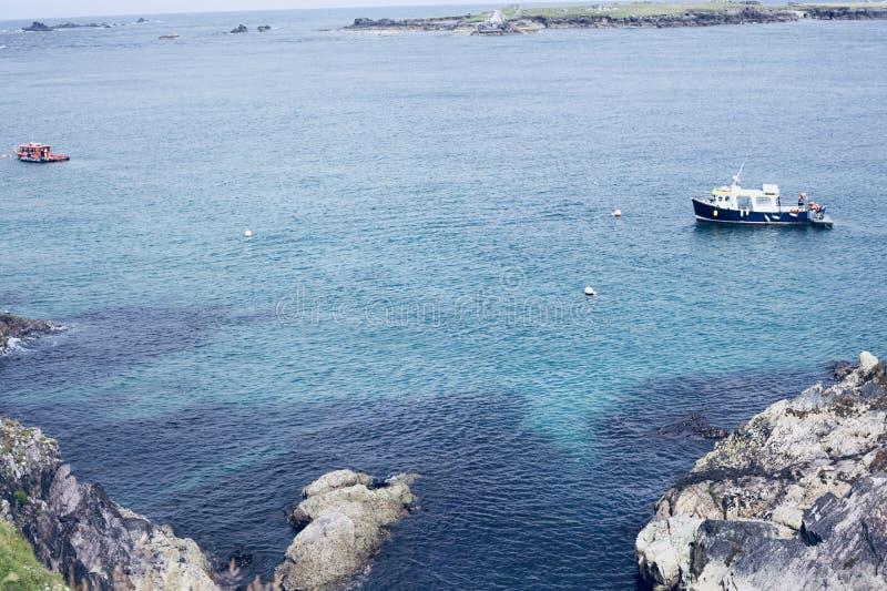 Blasket ö på Dinglehalvön i den ståndsmässiga Kerryen arkivfoton