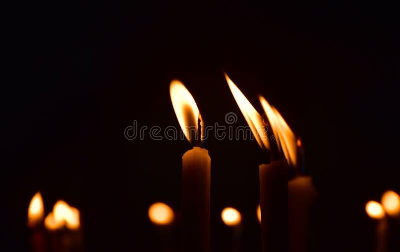 Blasku świecy tła fotografia obrazy stock