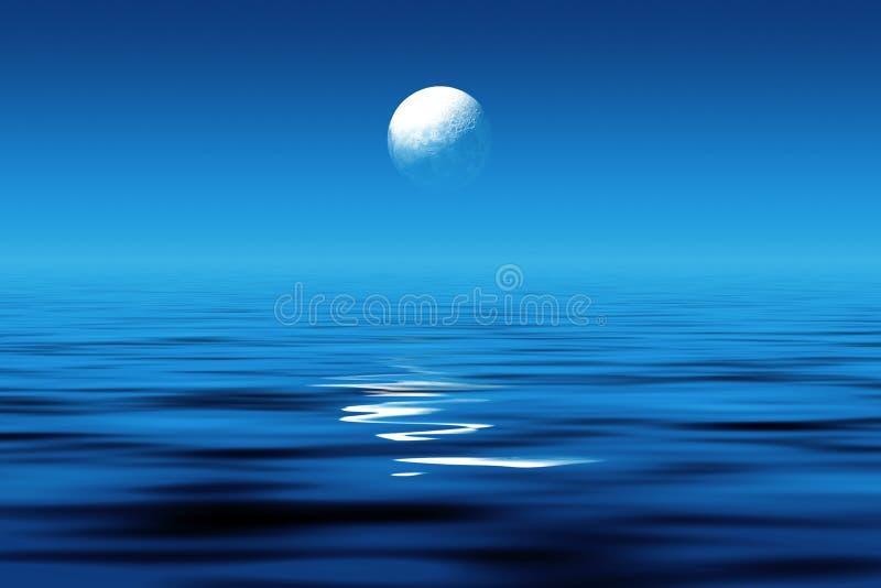 blasku księżyca morza ilustracji