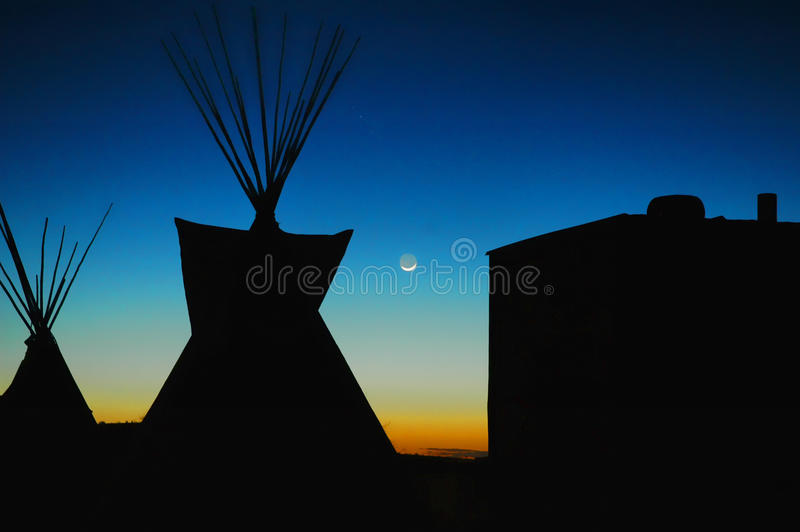 blasku księżyca teepee fotografia royalty free