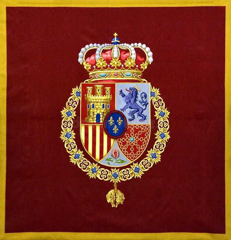 Blasone della stemma della Spagna fotografia stock libera da diritti