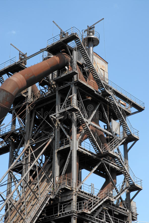 Blast furnace. Age blast in an industrial area stock photos