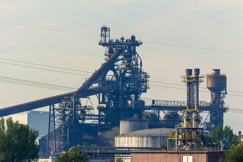 Blast furnace steel plant stock photo